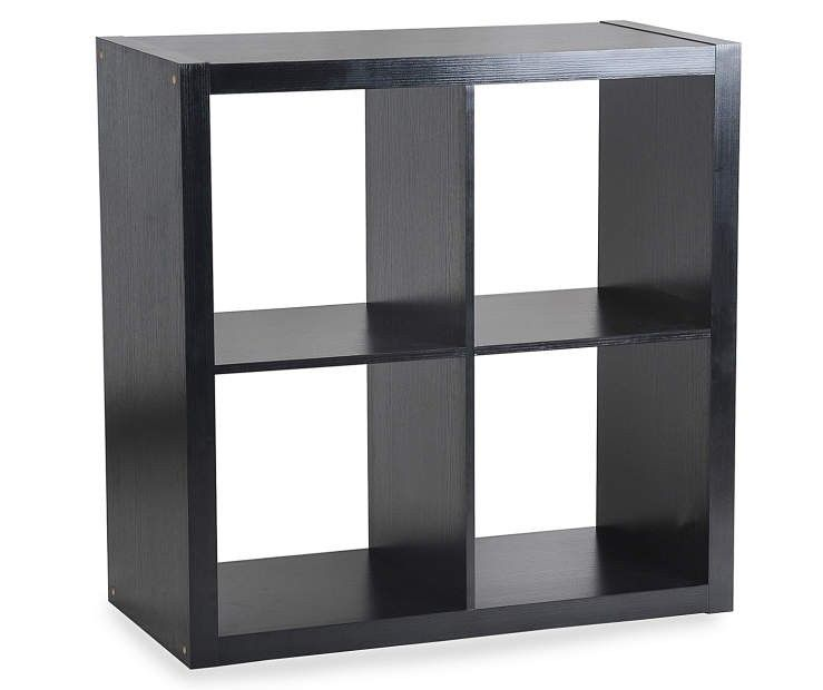 Stratford 4 Cube Black Storage Cubby Cubby Storage Shelving Unit Shelving