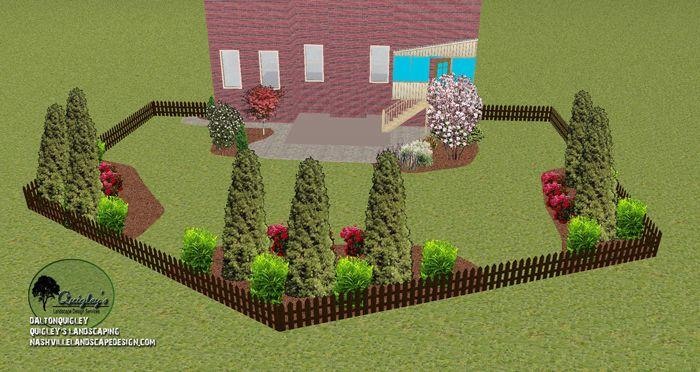 Arborvitae Privacy Landscape Design #privacylandscaping