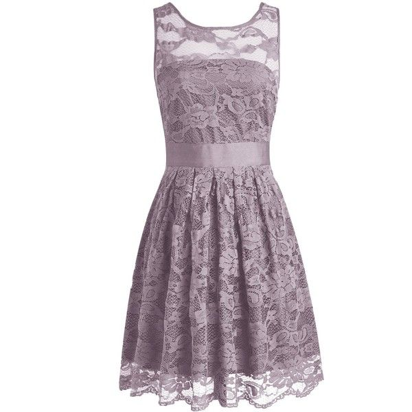 Wedtrend Floral Lace Dress Bridesmaid Dress Short Homecoming Dress (260 BRL) ❤ liked on Polyvore featuring dresses, short dresses, purple homecoming dresses, lace mini dress, lace bridesmaid dresses and short cocktail dresses