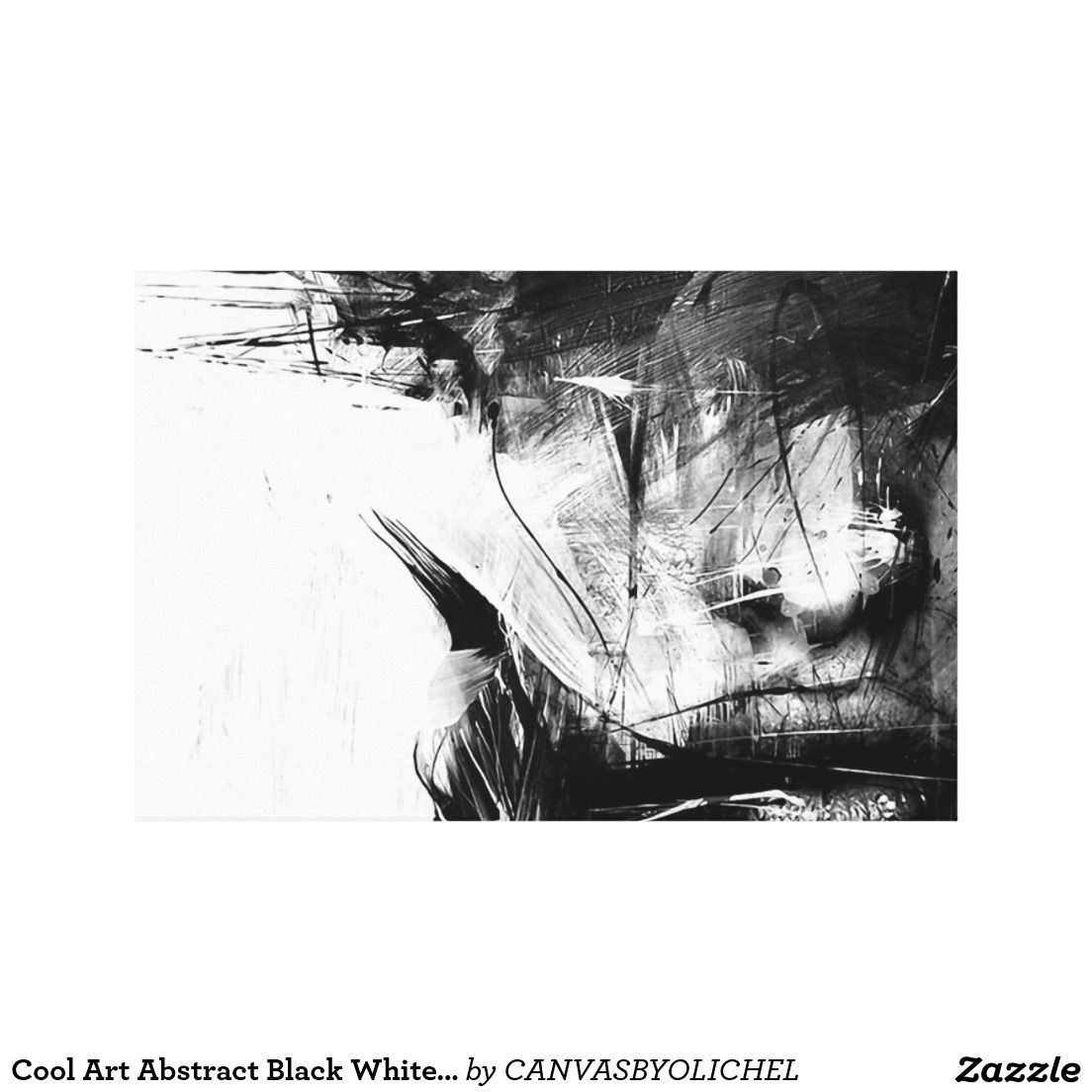 Cool art abstract black white face woman canvas print black and white cool abstract black white face woman vintage buy sell artistic