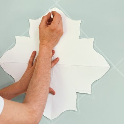 How to Paint a Curvy Moroccan Star Design Stencil templates
