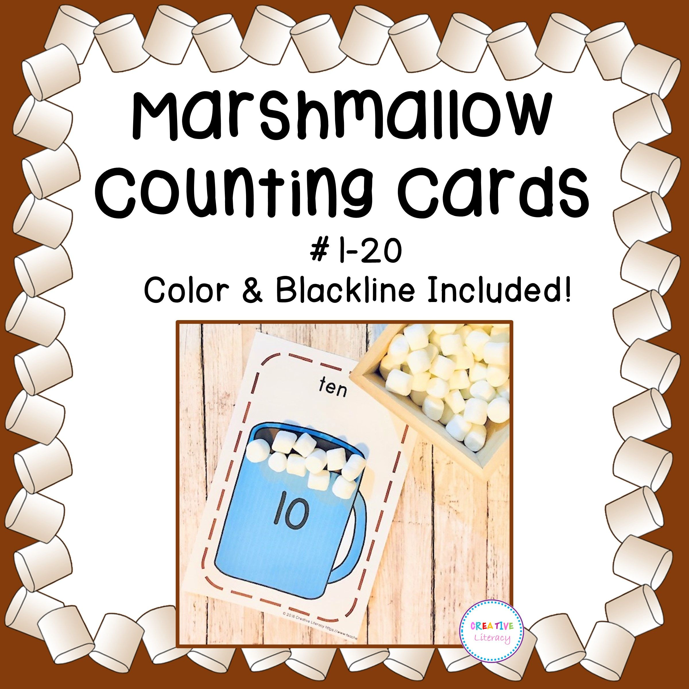 Marshmallow And Cocoa Counting Cards From Creative