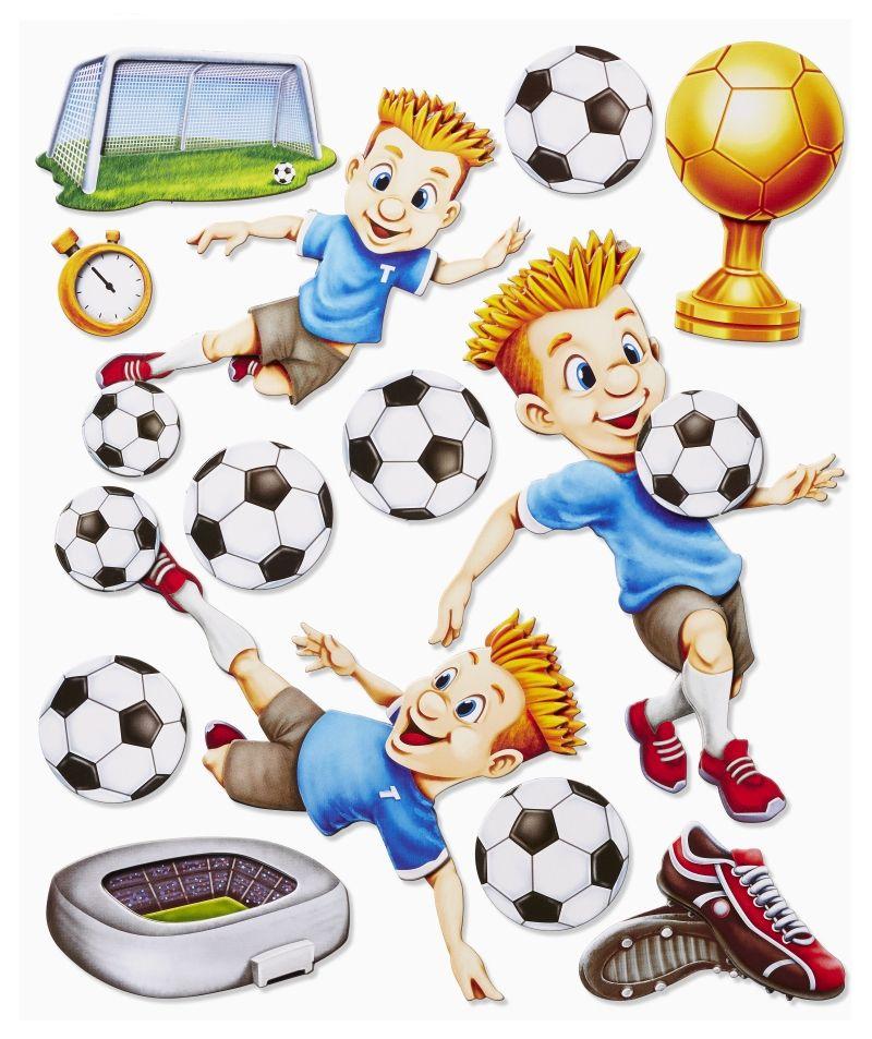 3d Sticker Xxl Fussball Fussballer Set 2 Skins4u 3d