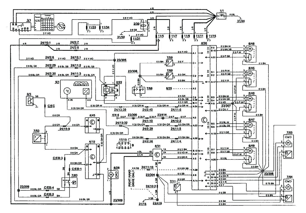 1995 volvo 850 radio wiring diagram diagrams controls truck 1 new ...  pinterest