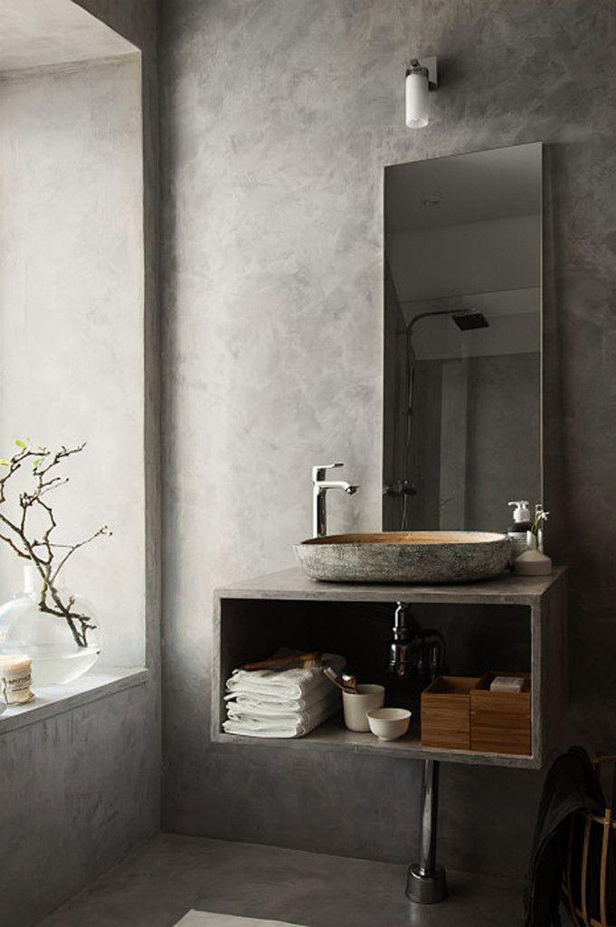 Light Grey Bathroom Ideas Pictures Remodel And Decor Bathroom Inspiration Modern Concrete Bathroom Bathroom Inspiration