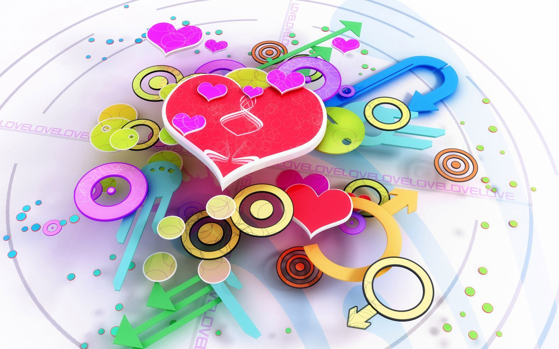 Free Cute 3D Valentines Day Heart Desktop Wallpaper wallpaper ...