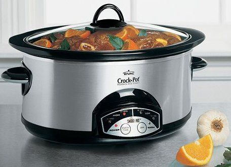No kitchen is complete without a Crok Pot slow cooker.  I don't use this often enough and mostly use it to take meatballs or chili to parties.  However, occasionally, I use it to make dinner.  Just set it and forget it and dinner is done when you get home.  It is just like having your own cook!