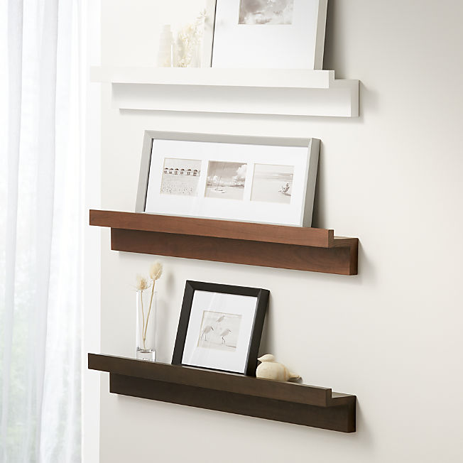 Display Shelves Picture Ledges Crate And Barrel In 2020 Ledge Shelf Shelves Display Shelves