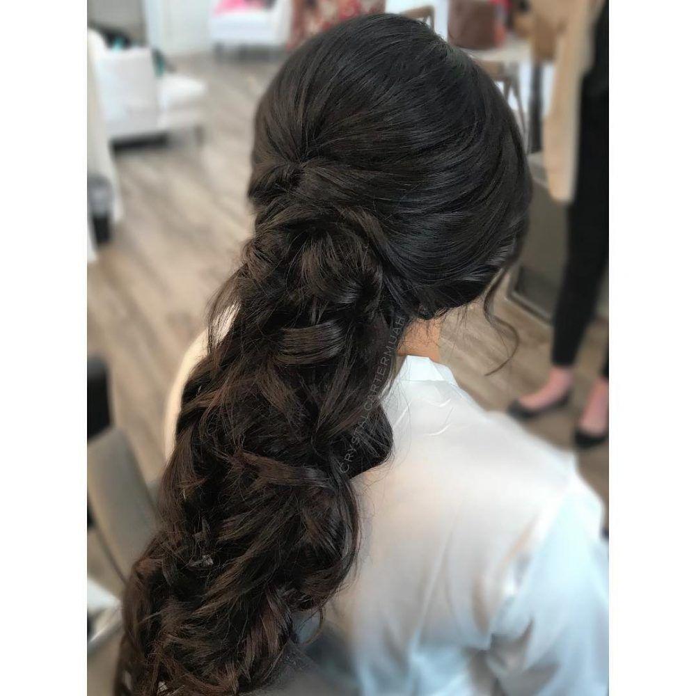 27 gorgeous wedding hairstyles for long hair   wedding