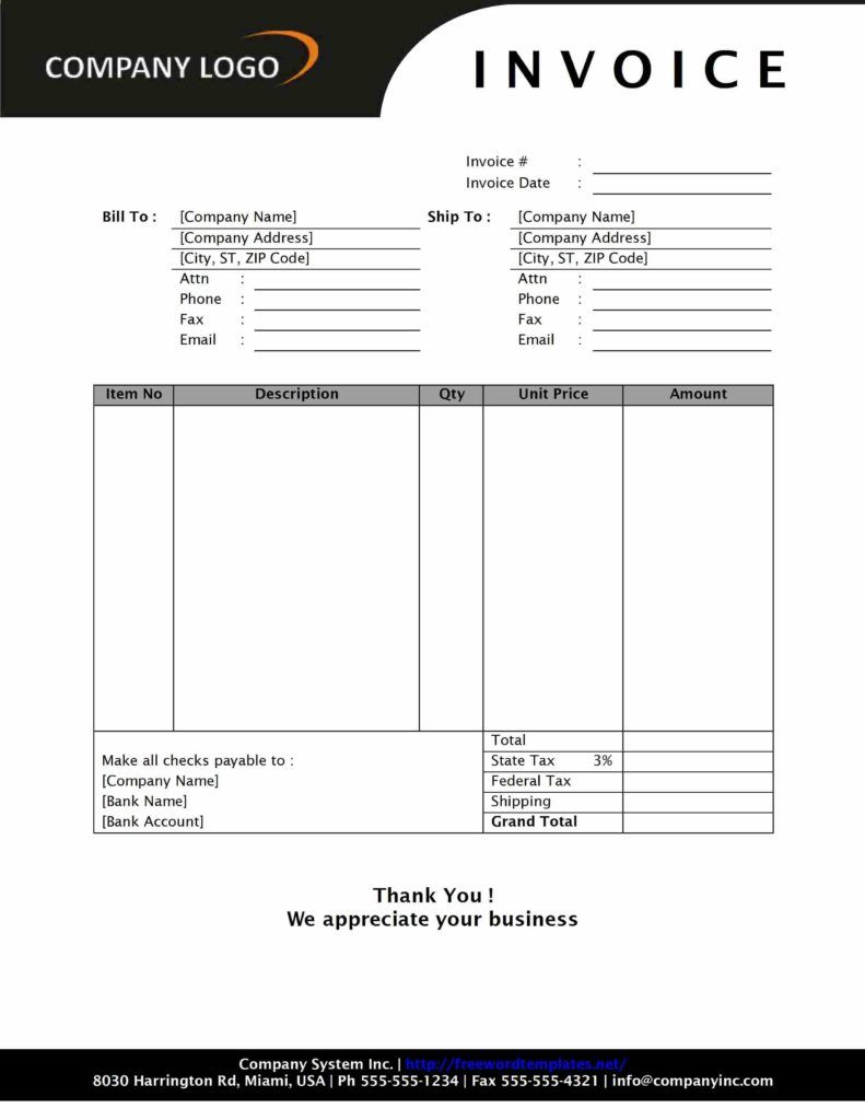Auto Body Shop Invoice Template Invoice Template Word Invoice Format Invoice Example