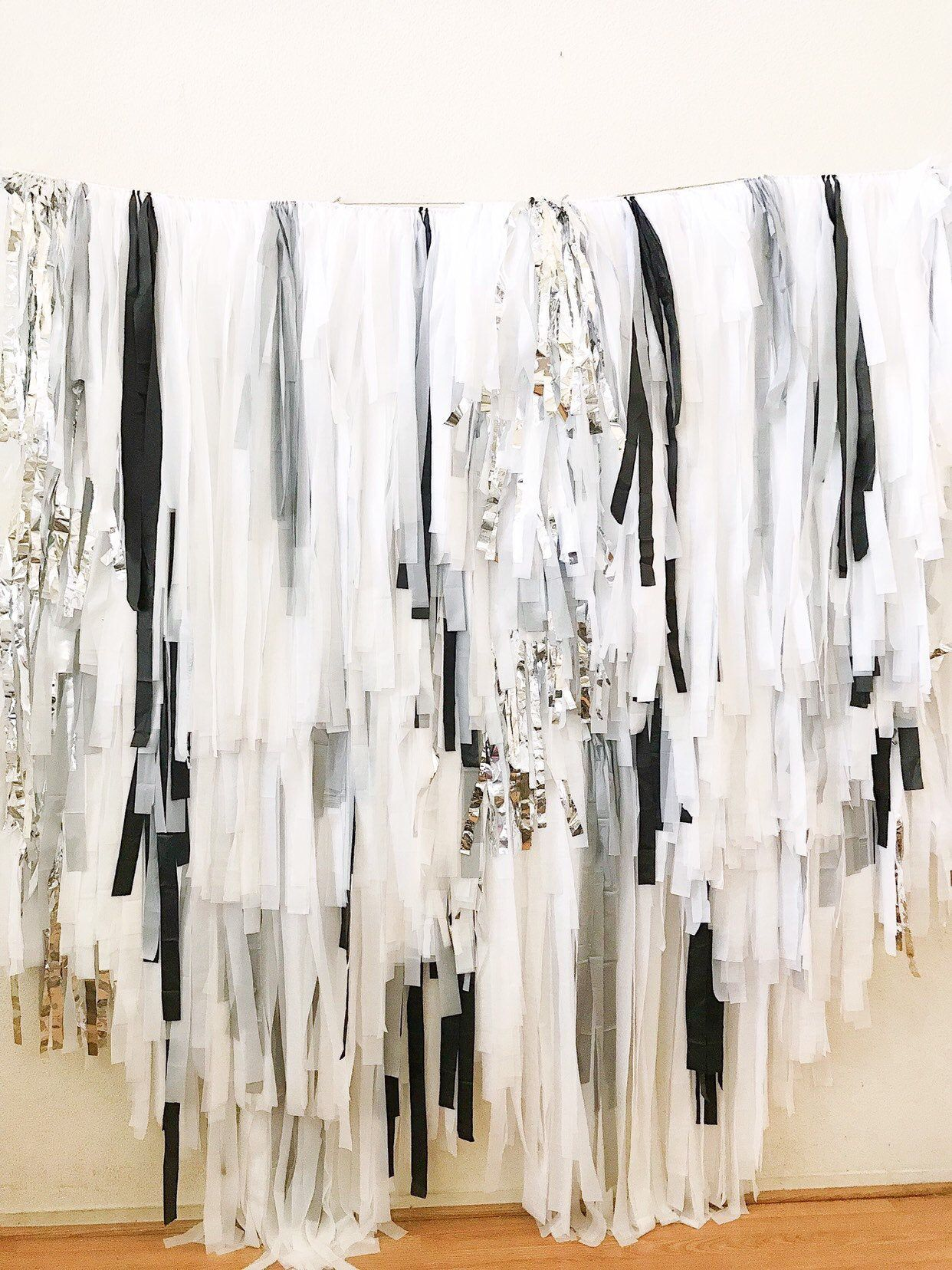 8 piece tablecloth fringe backdrop wall flagtape
