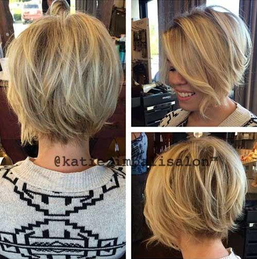 Kurze blonde haare hinterkopf