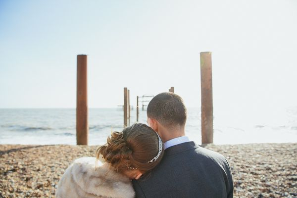 Brighton Sea Front Sequin Glitter Wedding http://www.redonblonde.com/