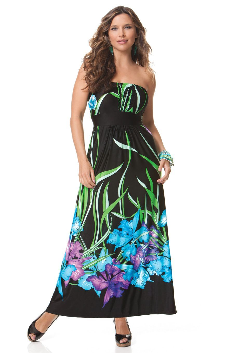 Floral Maxi Dress, Plus Size | Plus size maternity dresses ...