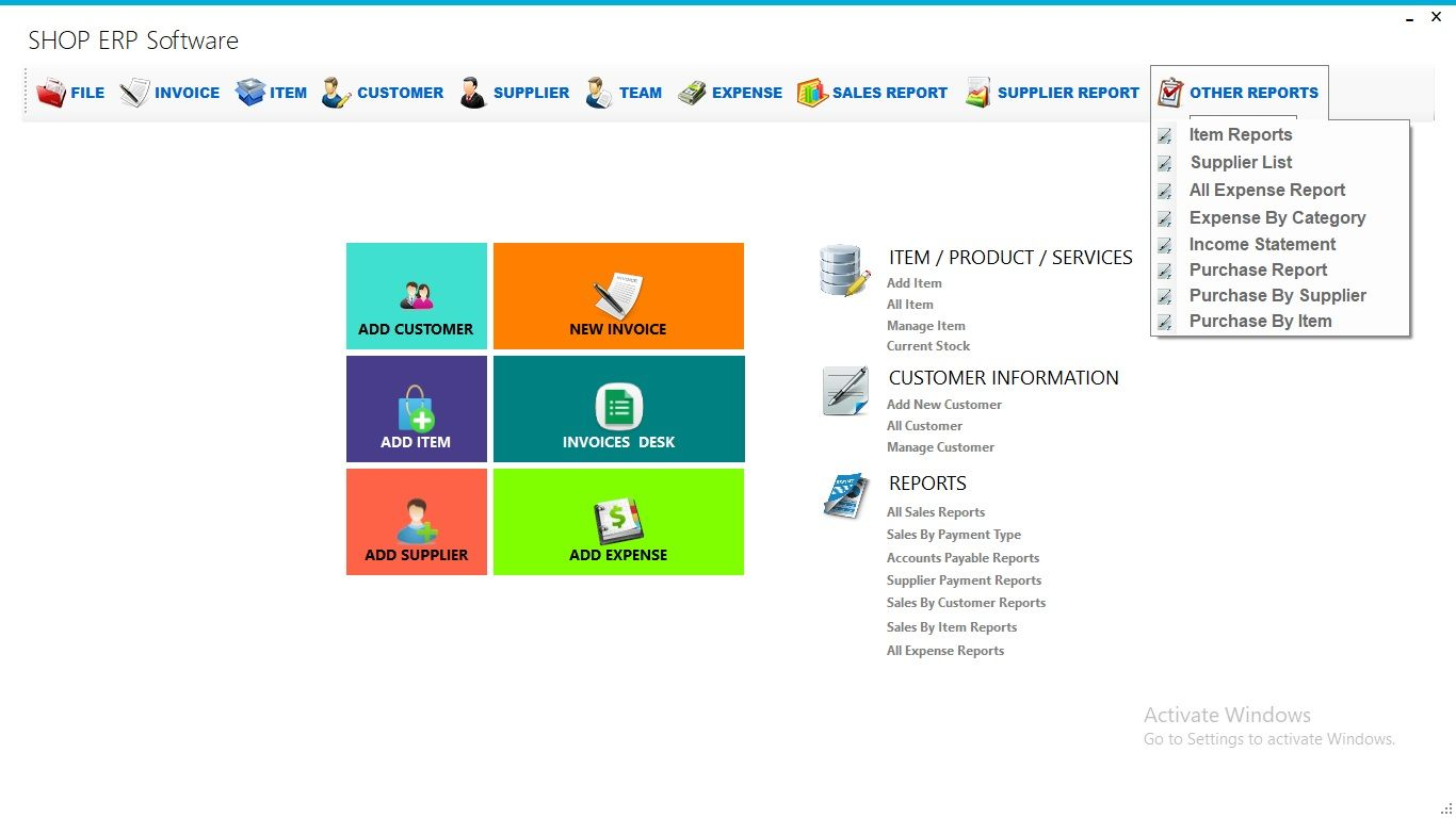 Business Shop Erp With Full Project Source Code C Source Code Coding Create Invoice