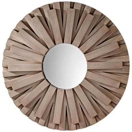 """Murray Feiss Weathered Discus 36"""" Wide Wall Mirror  $259"""
