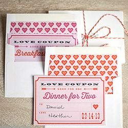 What better way to show your sweetie that you love them than with a thoughtful little bundle of Valentine's Day love coupons.