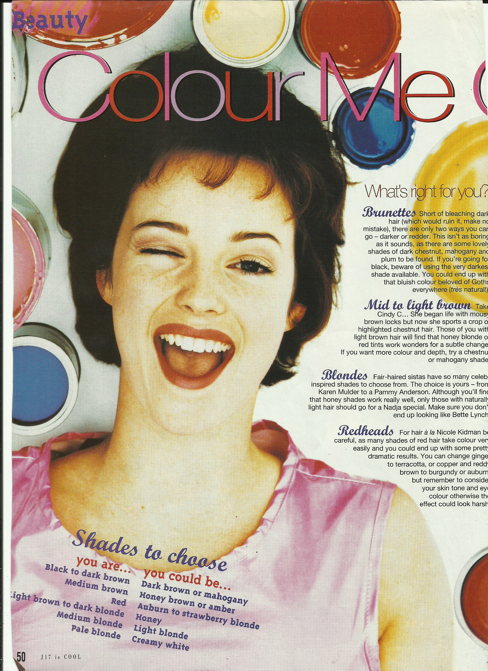 Just seventeen magazine, 1994.