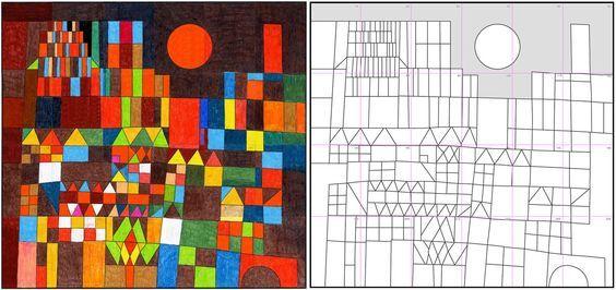 Coloriage-Paul Klee Lezioni di arte Arte di bambino