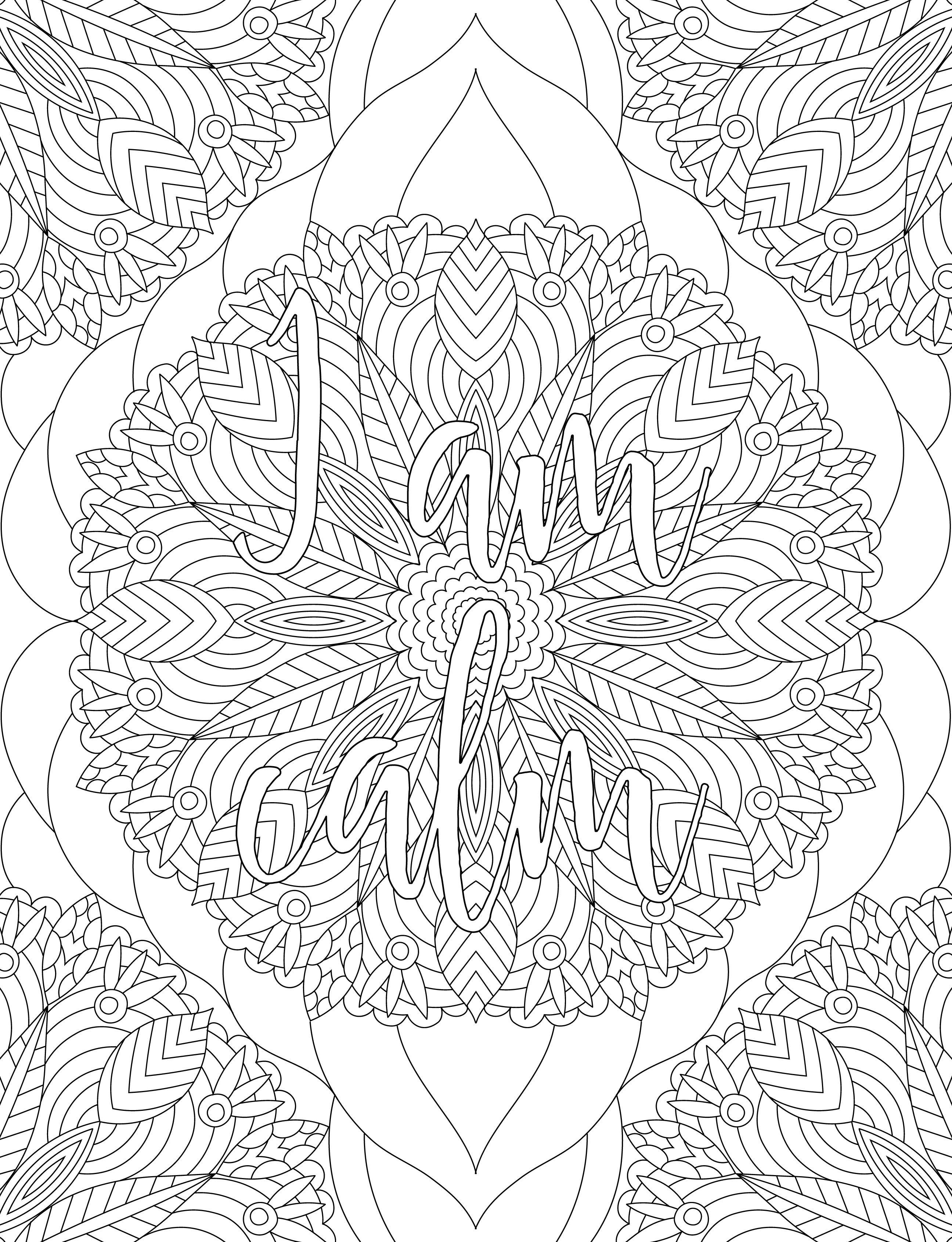 Affirmation Adult Coloring Book With Images