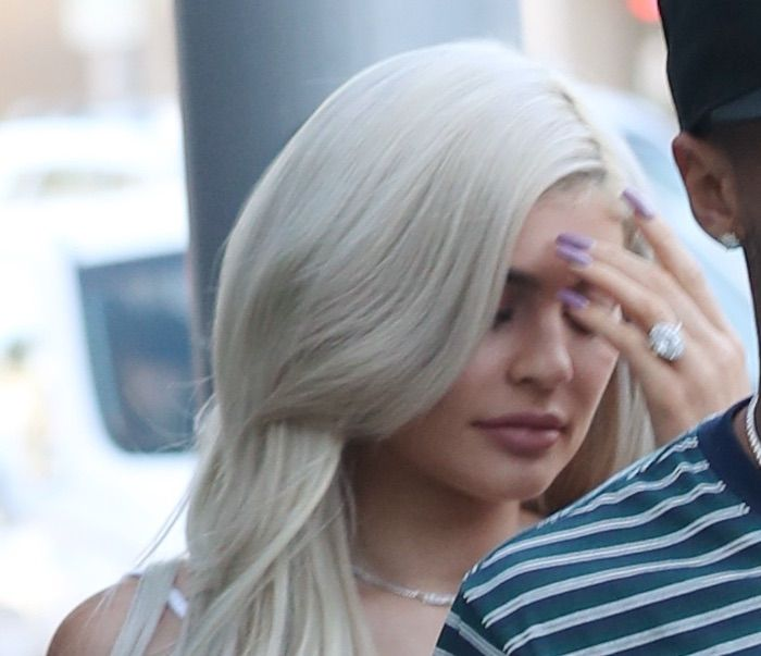 Kylie Jenner heads to Escala in Los Angeles for lunch with