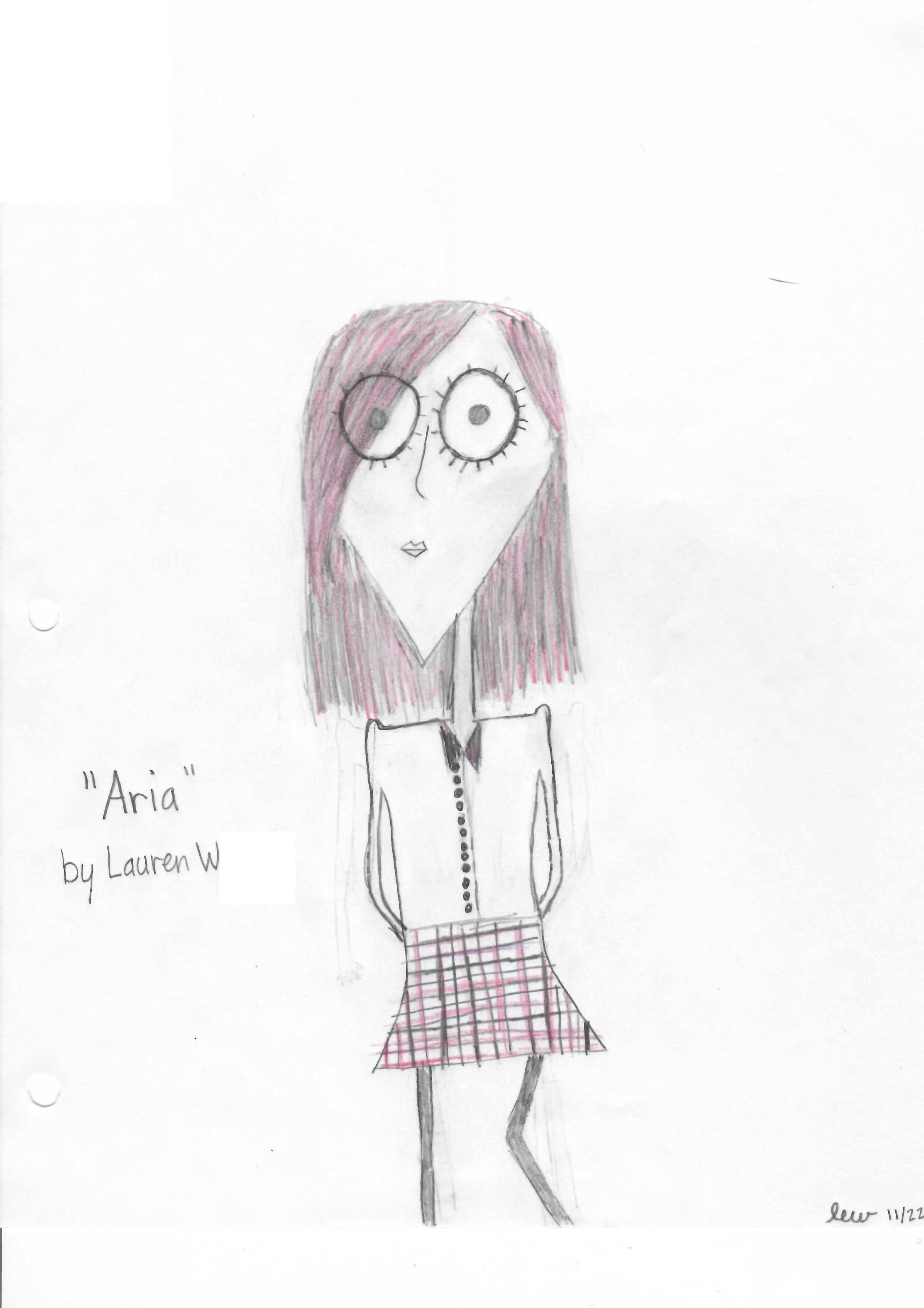 """Aria"" by Lauren W (11/22/16) | Tim Burton Style Art | Aria Montgomery, Pretty Little Liars, PLL"
