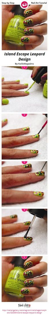 Photo of Island Escape Leopard Design by NailsMagazine  Nail Art Gallery Step-by-Step Tu