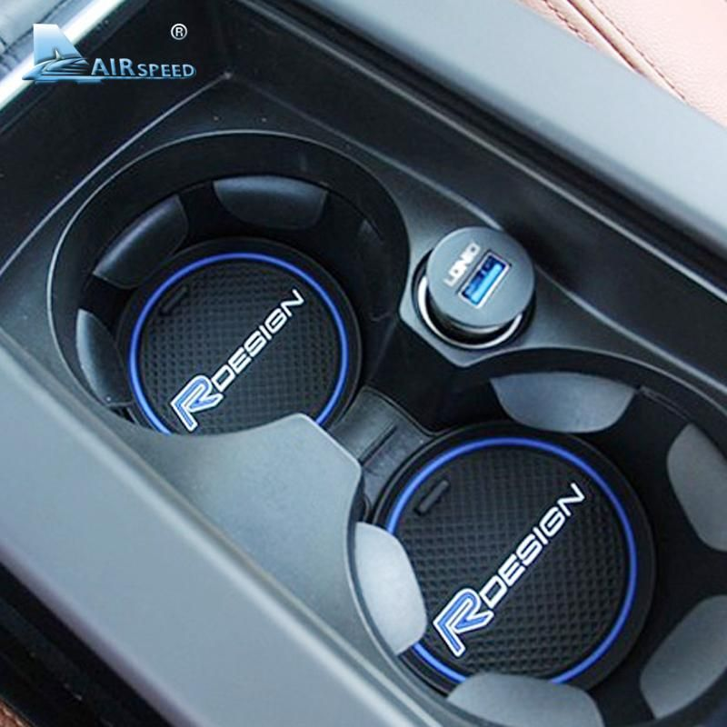 Airspeed Silicone Rdesign Car Coasters Cup Holder Mats For