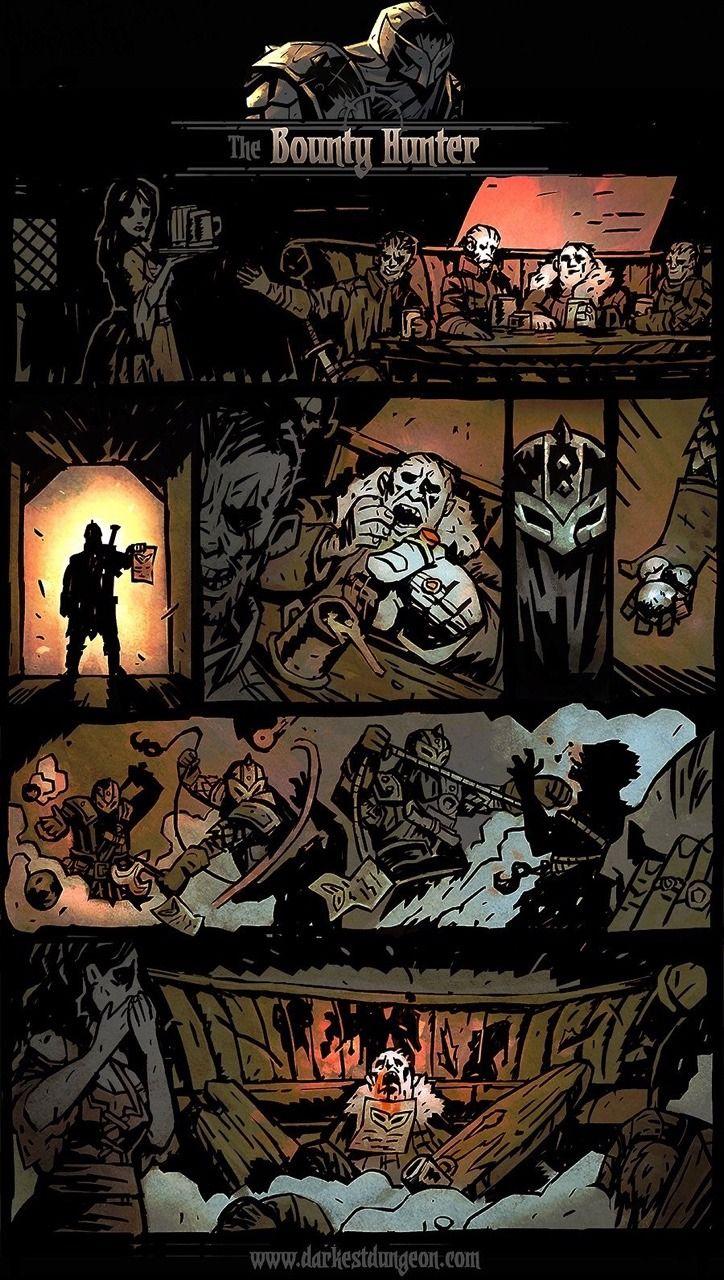 The Latest Darkest Dungeon Backstory Comic The Bounty Hunter Worked On With Chris Bourassa The Art Director Darkest Dungeon Art Dark Fantasy