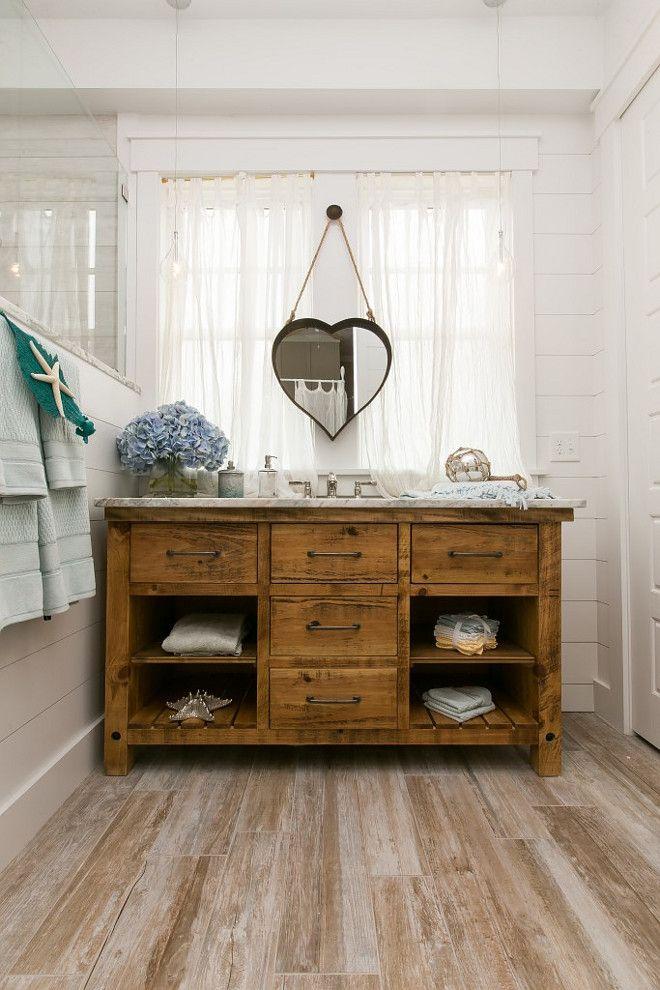 Plank Wood Tile  Bathroom with Plank Wood Tile  Shiplap Walls and Reclaimed  Wood. Plank Wood Tile  Bathroom with Plank Wood Tile  Shiplap Walls and