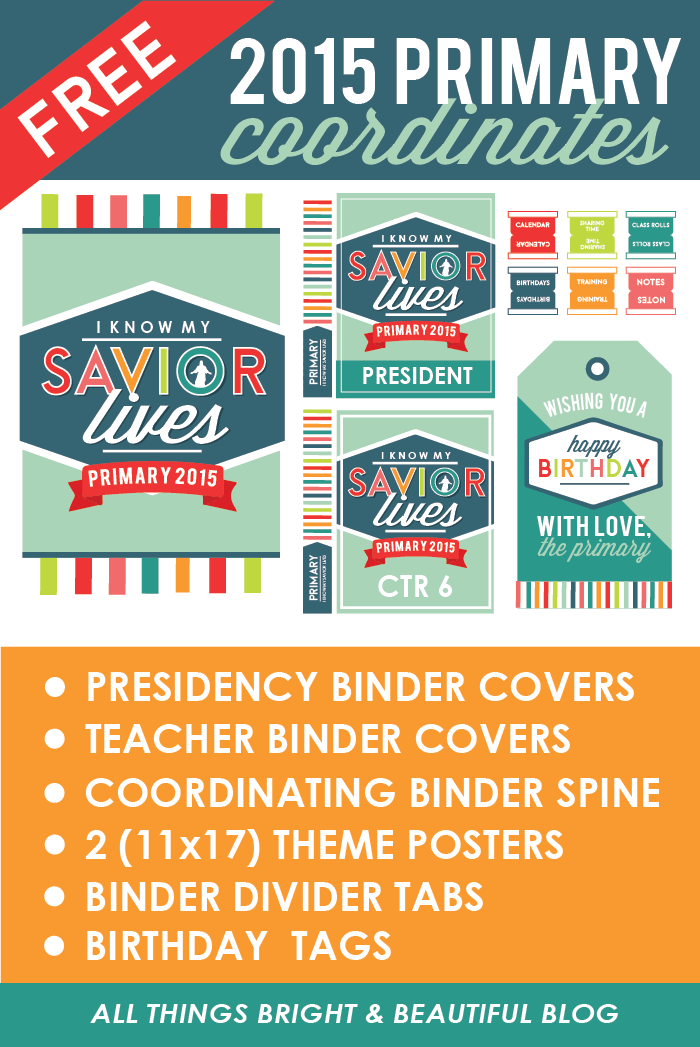 FREE 2015 Primary Theme Pack | Primary 2015 | Pinterest | LDS ...