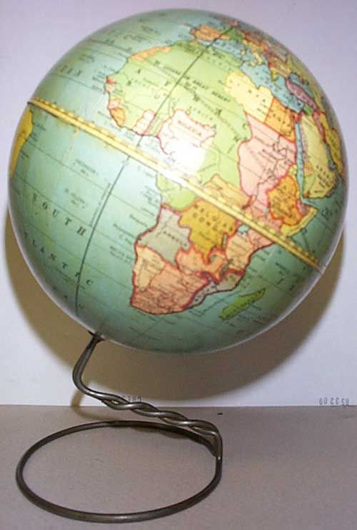 Peerless 6 inch Globe, Very Fine in Original Box, Cartographer: Weber Costello Co. (Published: 1929 Chicago Heights, IL)
