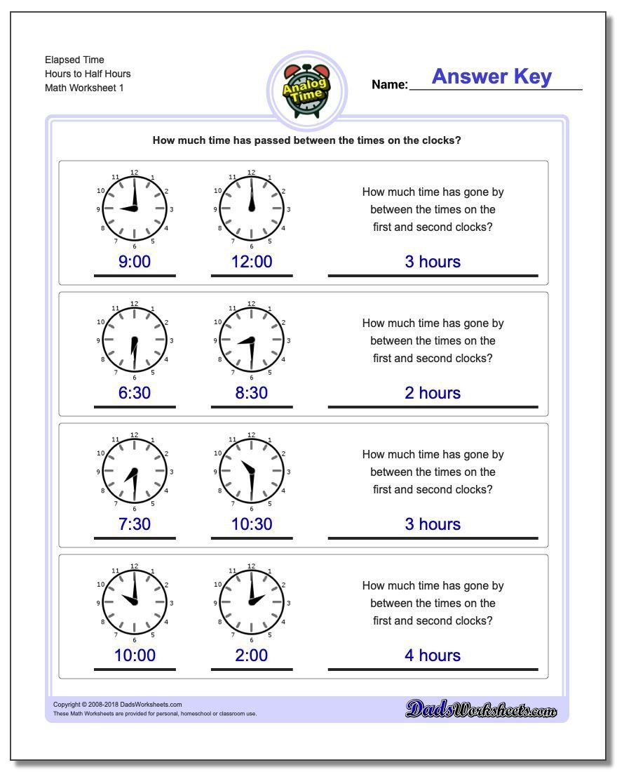 hight resolution of Elapsed Time Worksheets 3rd Grade Analog Elapsed Time   Elapsed time  worksheets