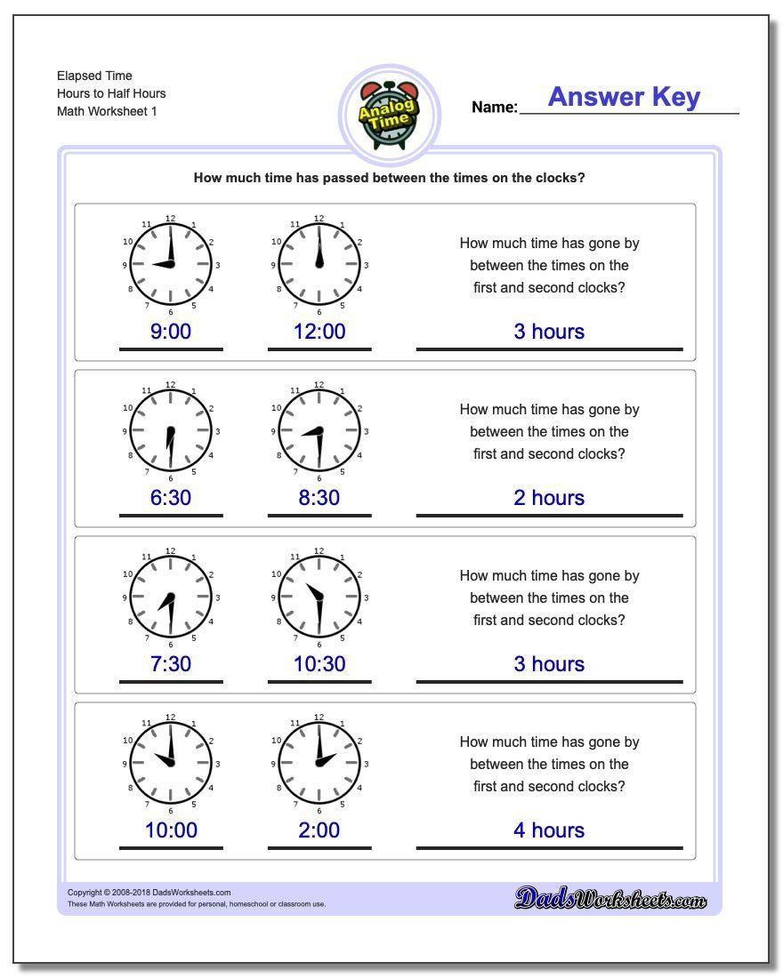 medium resolution of Elapsed Time Worksheets 3rd Grade Analog Elapsed Time   Elapsed time  worksheets