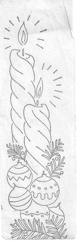WB Christmas candles | Dibujos para bordar | Pinterest | Navidad ...