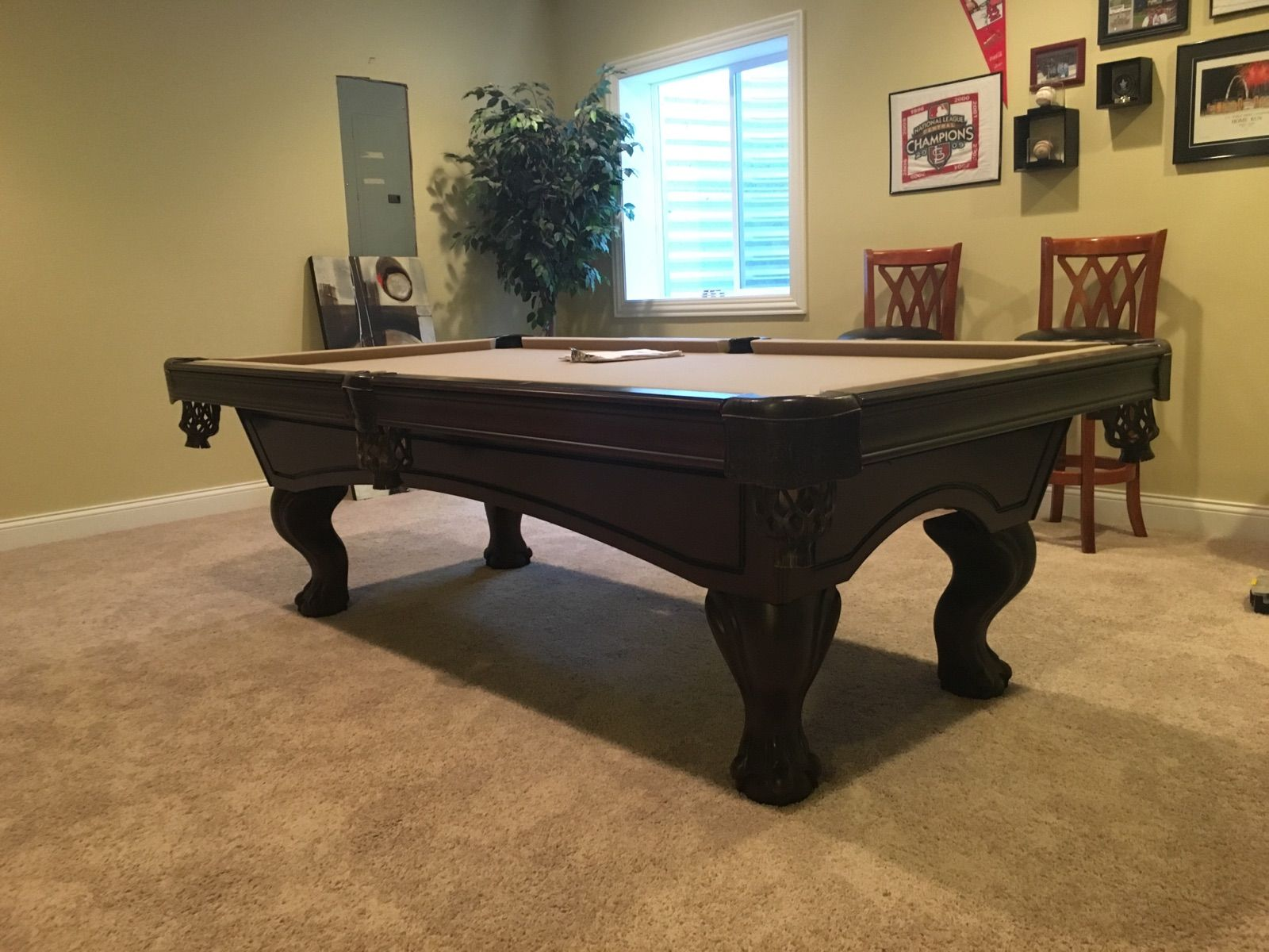 American Heritage Billiards Pool Table 9 16 Sold With Images Billiard Pool Table Pool Table Movers Billiards Pool