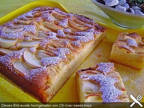apfelkuchen schnell und fein baking sweets pinterest kuchen apfelkuchen und apfel. Black Bedroom Furniture Sets. Home Design Ideas