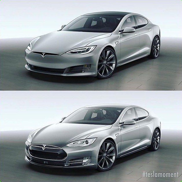 Design Sketching On Instagram What An Improvement Of The Tesla