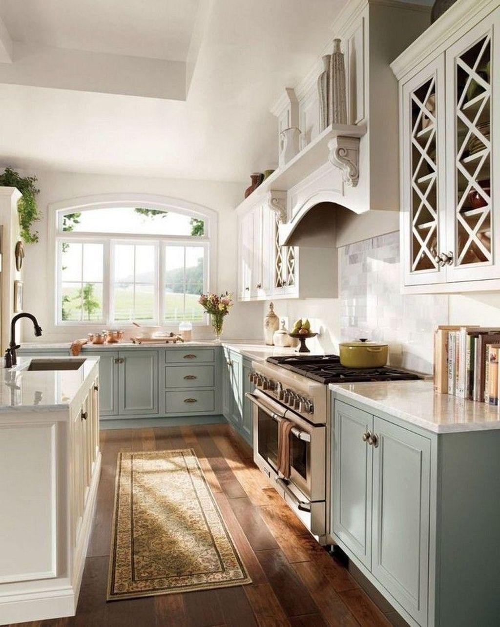 30 elegant farmhouse kitchen design decor ideas country kitchen designs french country on kitchen decor themes modern id=63212