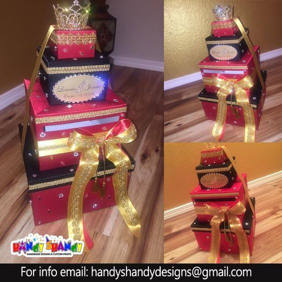 Wedding Gift Boxes!!! #personalize #customize #giftboxes #handyshandydesigns #handmadedesigns Email handyshandydesigns@gmail.com or visit us At: www.handyshandydesigns.com for details