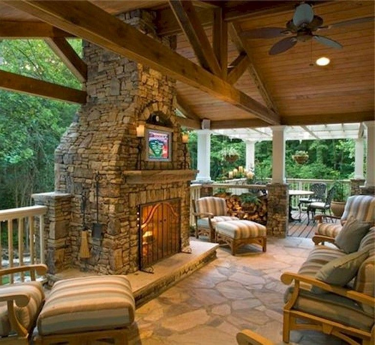 83 Stunning Stylish Outdoor Living Room Ideas To Expand Your