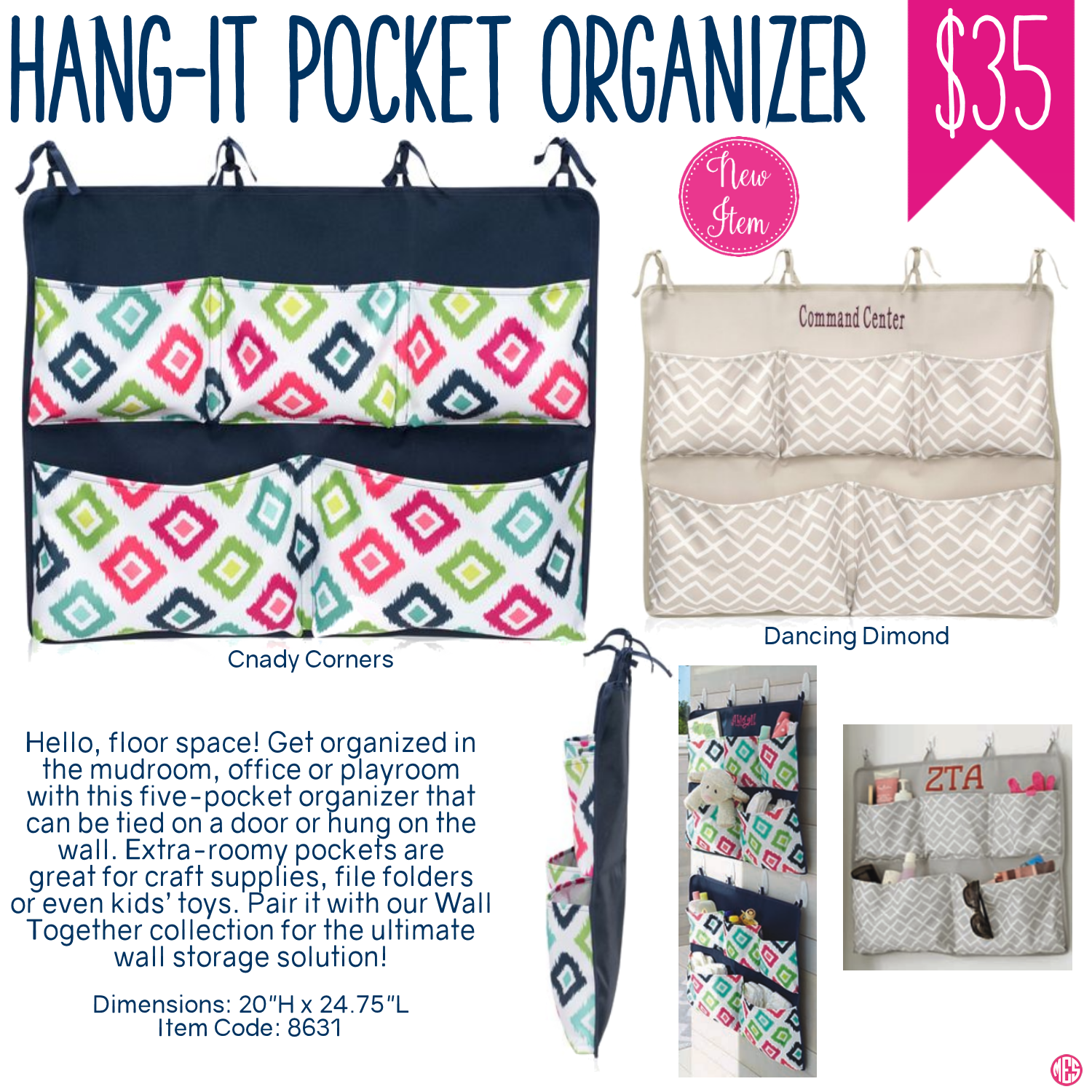 Thirty One Hang It Pocket Organizer Spring Summer 2017 Thirty