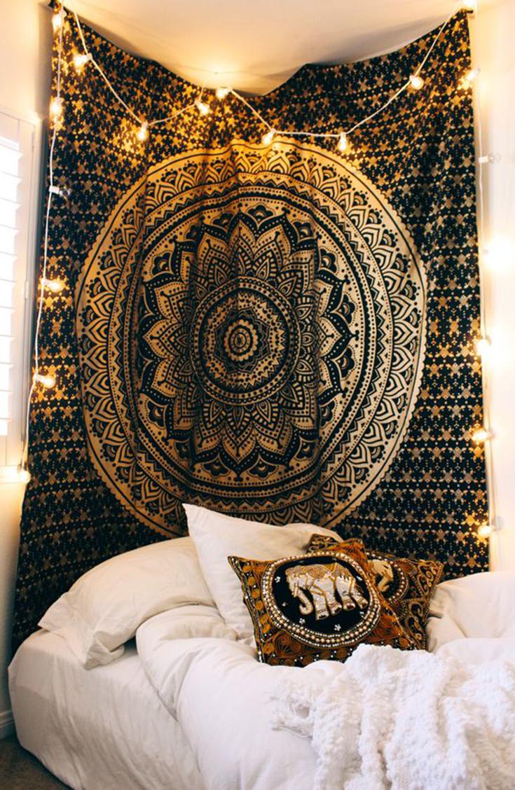 Large Round Indian Wall Hanging Tapestry Mandala Tapestries Bohemian Throw Decor