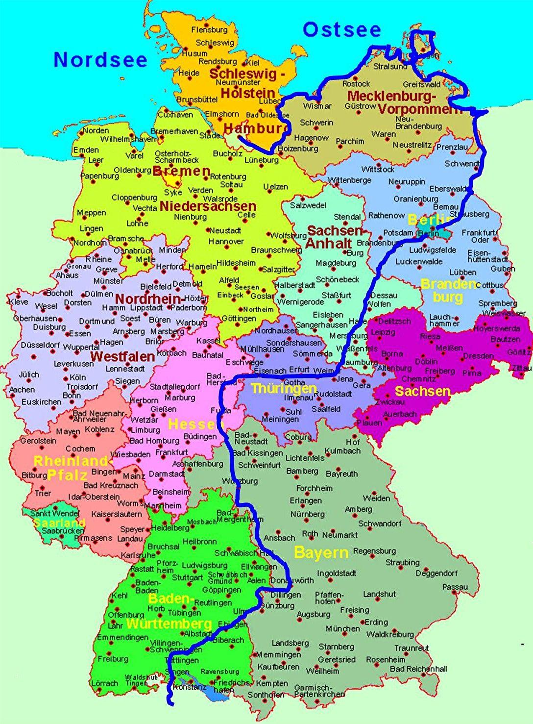 Carte Bild Von Romulover Karte Deutschland Landkarte