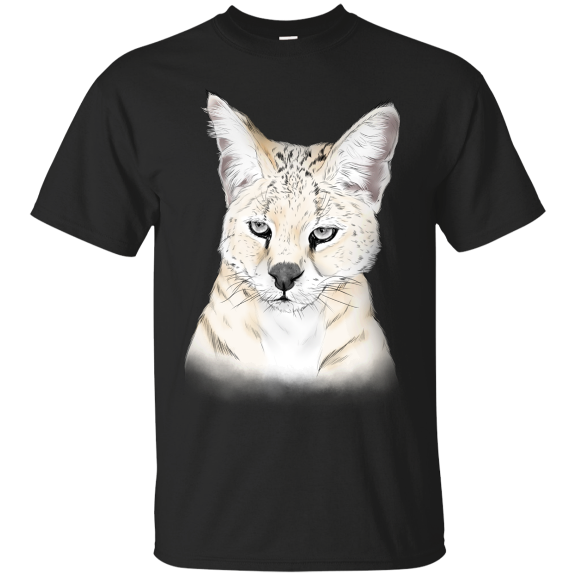 Frosty the White Serval Color G200 Gildan Ultra Cotton T