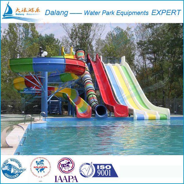 Slide Manufacturer Swimming Pool Water Slide For Outdoor For Sale