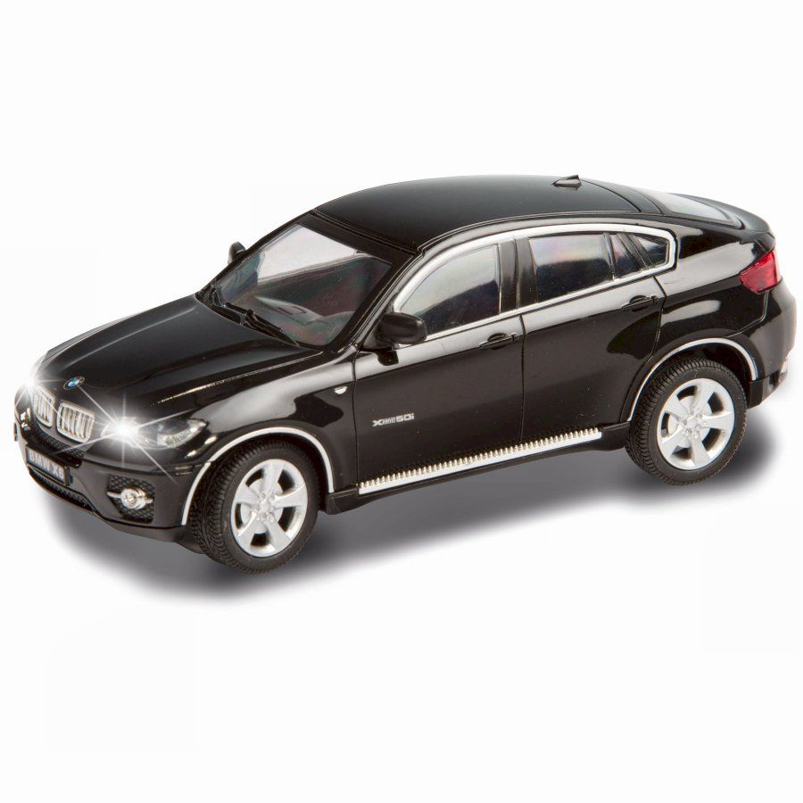 Toys car image  Radio Control BMW X Black toy car with working front and rear