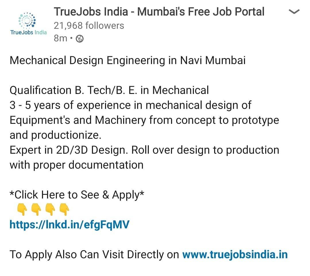 Mechanical design engineer in mumbai designengineer