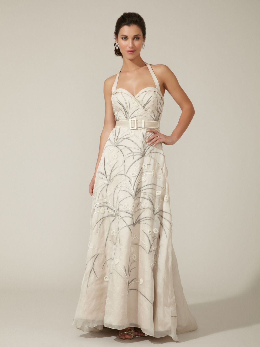 Scottish wedding dresses  Woven Embroidered Detachable Train Gown by BHLDN at Gilt  Spring