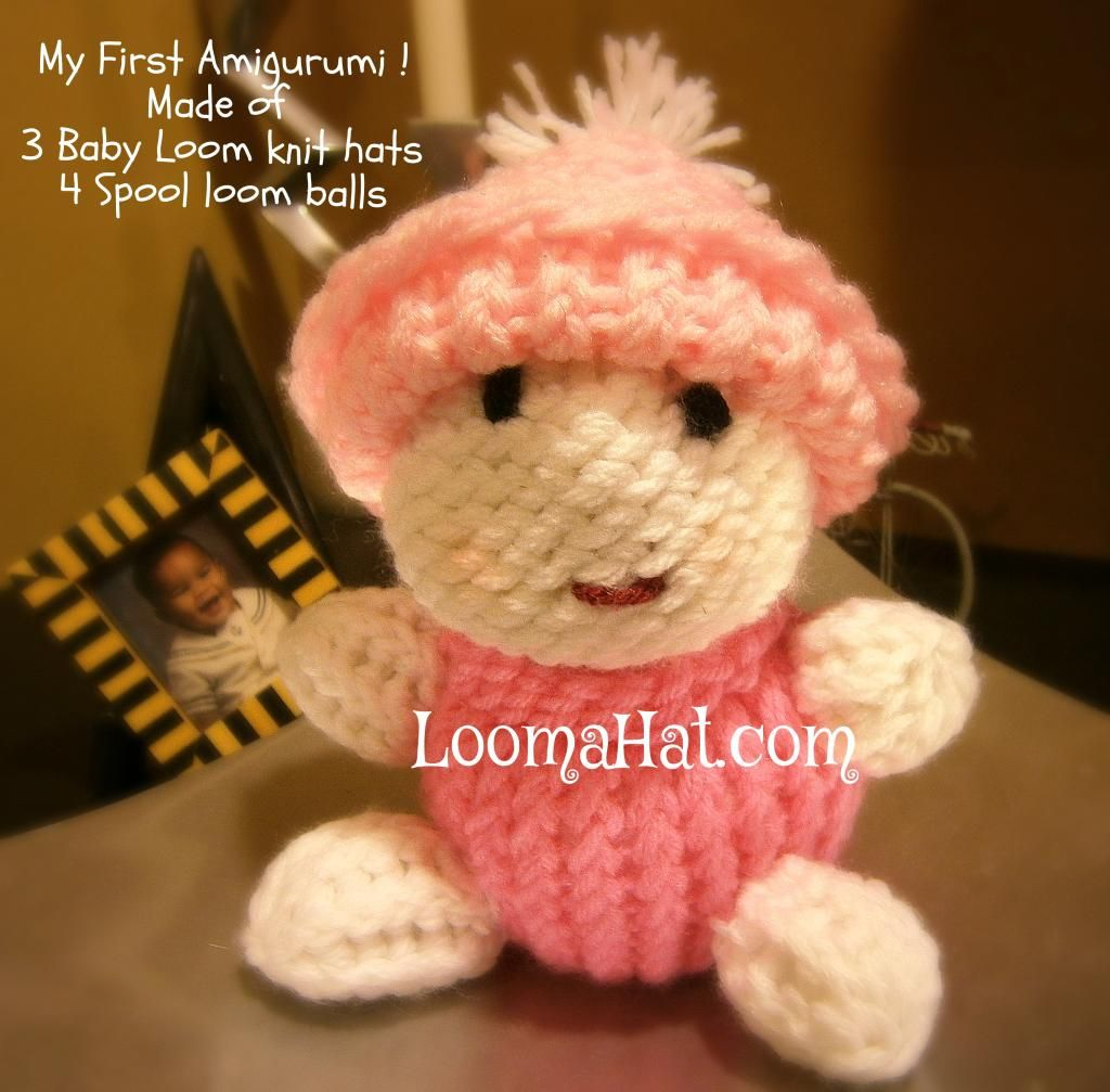 Loom knitting doll   ... of Looms – 24-peg Loom and a Spool or ...